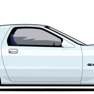 mazda rx7 fc lateral blanco