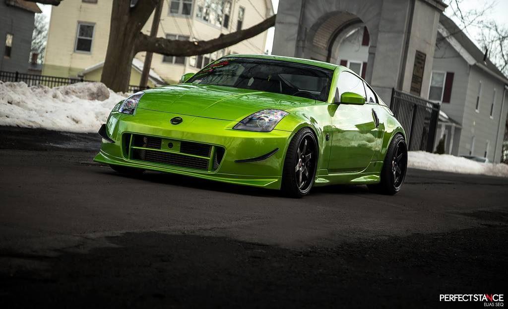 nissan 350z tuning color verde