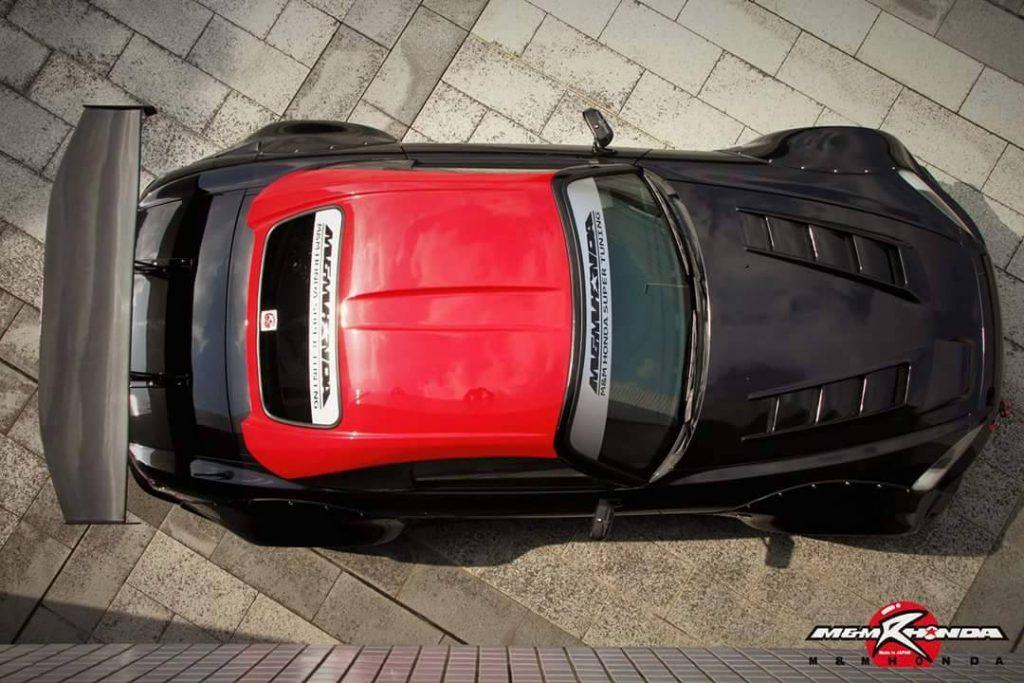 honda s2000 negro techo rojo
