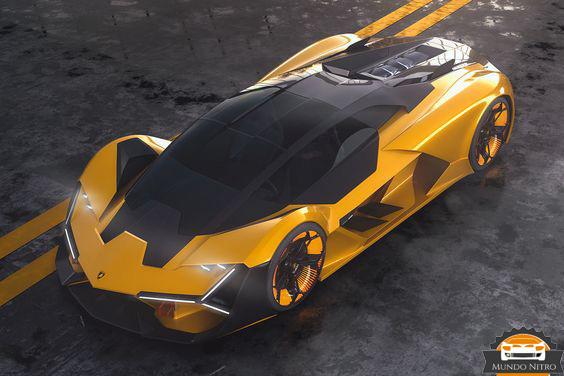 Lamborghini terzo millennio dorado