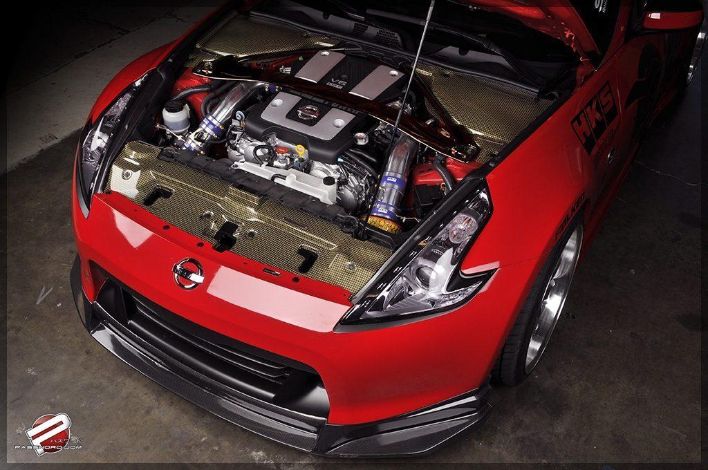 motor nissan 370z fibra de carbono turbo