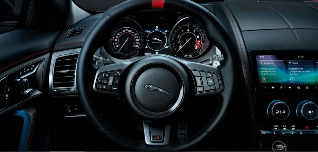 interior jaguar f type svr